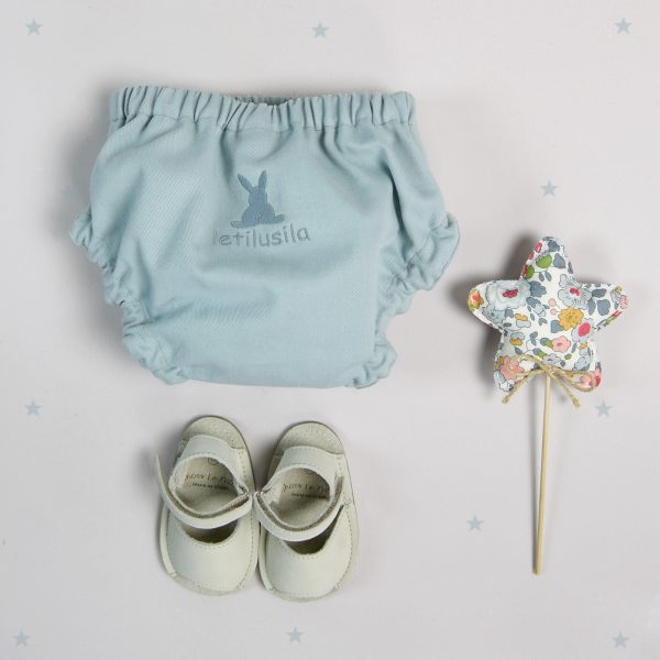 Green-blue cotton knickers